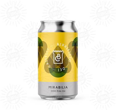 BIRRIFICIO DEI CASTELLI - Birra Mirabilia DDH Pale Ale 5,2%vol - Lattina 330ml